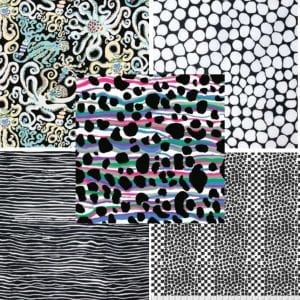 Black and white fat quarter pack kaffe fassett