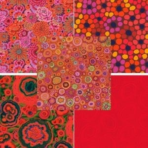 Reds Kaffe Fassett Fat Quarter Pack