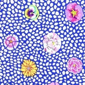 GP59.Blue Guinea Flower, Kaffe Fassett Classics