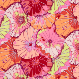 PWGP029.Red Lotus Leaf Kaffe Fassett