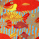 BM29 Gone Fishing, Brandon Mably, Kaffe Fassett Collective