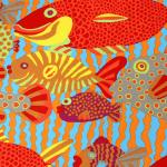 BM29 Gone Fishing, Brandon Mably, Kaffe Fassett Collective