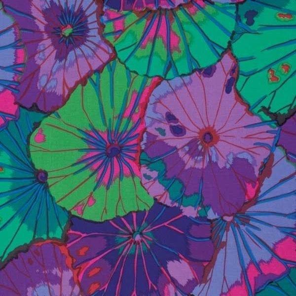 PWGP029.Purple Lotus Leaf Kaffe Fassett