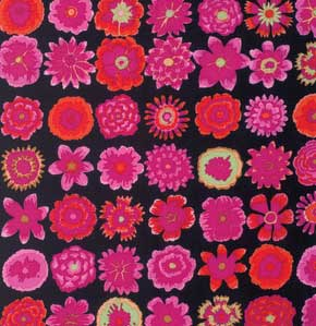 Kaffe Fassett Collective Button Flowers : GP152 Black