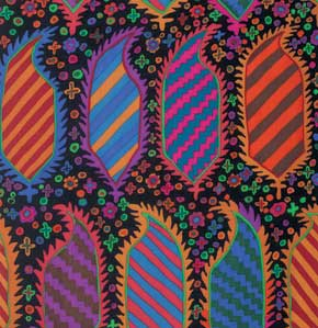Kaffe Fassett Collective Striped Heraldic : GP153 Black