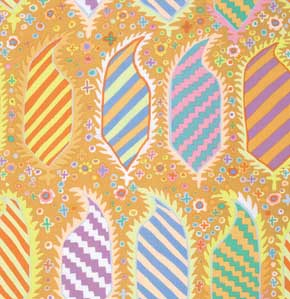 Kaffe Fassett Collective Striped Heraldic : GP153 Gold