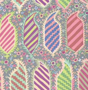 Kaffe Fassett Collective Striped Heraldic : GP153 Grey