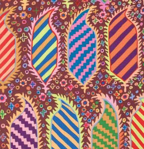 Kaffe Fassett Collective Striped Heraldic : GP153 Maroon