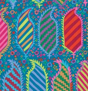 Kaffe Fassett Collective Striped Heraldic : GP153 Turquoise