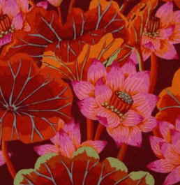 GP093.Red Lake Blossoms, Kaffe Fassett