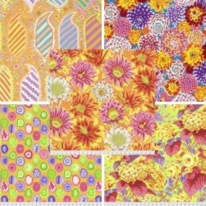 Sunshine Yellows Kaffe Fassett Collective Fat Quarter Pack