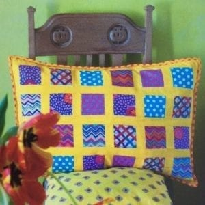 Stamp Collection, Brilliant Little Patchwork Cushions