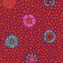 PWGP059.RED Guinea Flower, Kaffe Fassett Classics