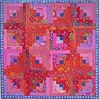 Red Log Cabin, Quilts in Ireland
