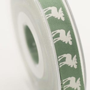 5 x Moose Christmas Ribbon 14104-3Green