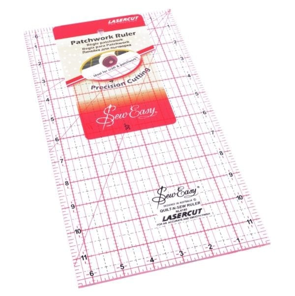 12 x 6.5 inch: Patchwork Rule, Sew Easy NL4180