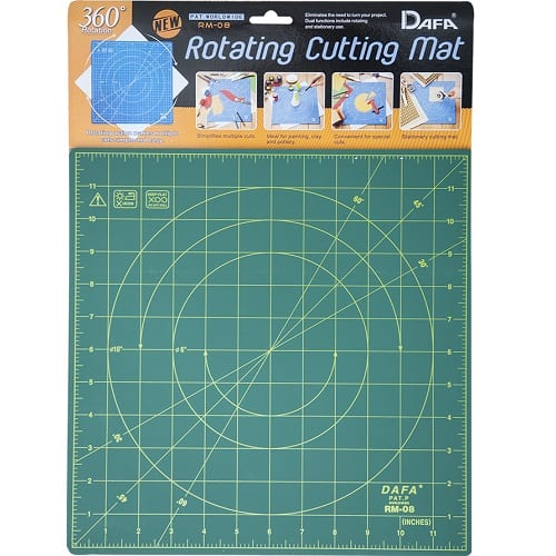 Rotating cutting mat