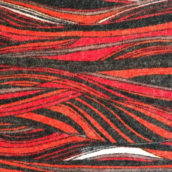 Stretch Wool Mix - Red