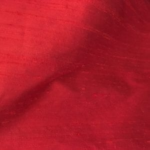 100% Silk Dupion - Red