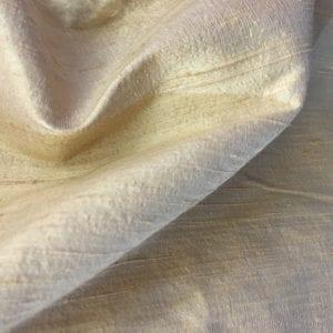 100% Silk Dupion - Beige / Gold