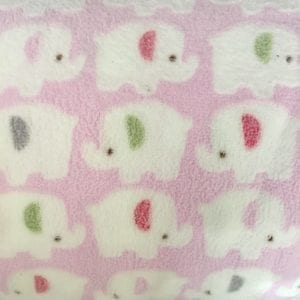Elephant - Printed Fleece - Pink