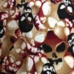 C6278-15 - Skulls - Printed Fleece