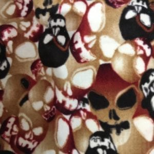 C6278-15 - Skulls - Printed Fleece