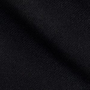 Flannel - Black - 65% Polyester, 35% Wool
