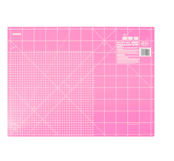 Rotary Cutting Mat: 60x45cm 23.5x17.75in: Pink