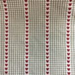 Natural Gingham Hearts - Heavy Cotton