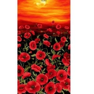 C5833 Black Tuscan Poppies Panel.jpg