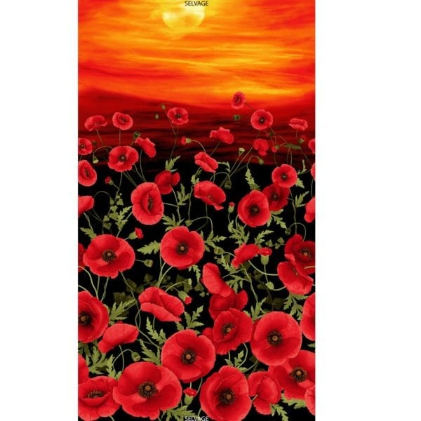 C5833 Black Tuscan Poppies Panel.jpg