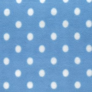 XPL1018 - Blue Large Spot Fleece