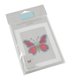 GCS18 Counted Cross Stitch Card Kit Butterfly