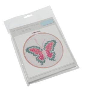 GCS24 Cross Stitch Hoop Kit - Butterfly