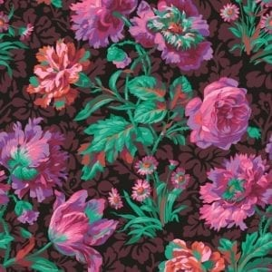PWPJ090.Black Baroque Floral Philip Jacobs