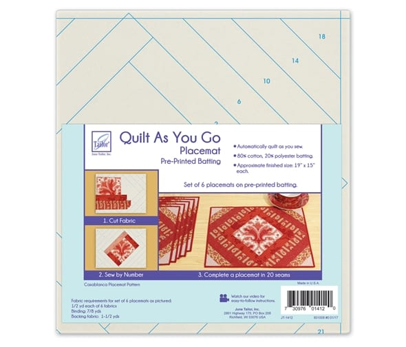 Quilt as you go Place mat