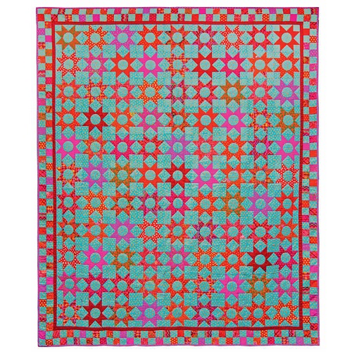 Red Stars Kaffe Fassett, Quilts in America