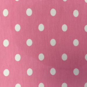 3752 Pink polka dot jersey dress fabric
