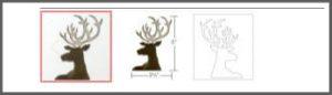 small dashing deer sizzix 661606
