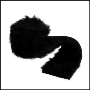 faux fur trim EH041 black groves & banks