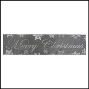 Merry Christmas and Snowflakes CR18-6 premium wire edge Ribbon