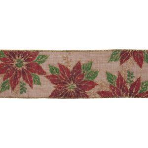 Poinsettia CR18-1 premium wire edge ribbon