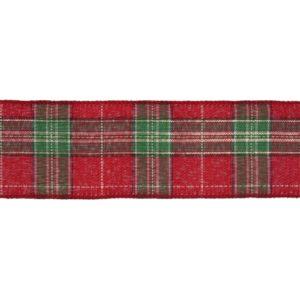 Tartan with Gold CR18-10 premium wire edge ribbon