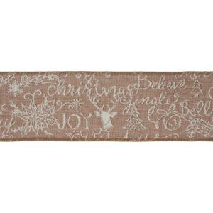 festive message CR18-4 premium wire edge ribbon