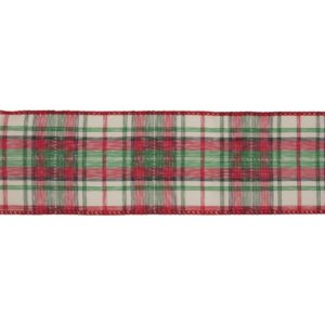 tartan CR18-9 premium wire edge ribbon