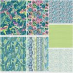 Teal - 7 Fat Quarter Pack Arcadia, Snow Leopard