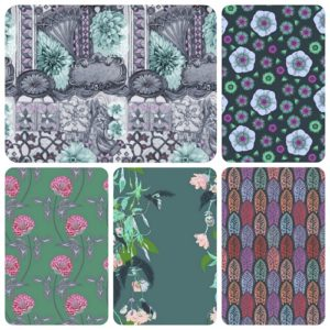 Aqua 5 fat quarter pack english summer