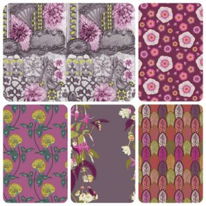Fushsia 5 fat quarter pack English Summer