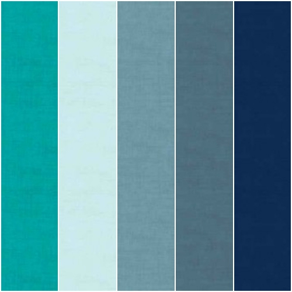 Linen Texture 5 Fat Quarter Pack 2